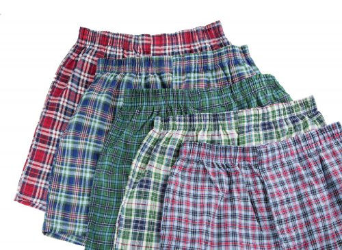 51UTkcP0J6L Fruit of the Loom Woven Boxers   Tartan Plaids, 5 pk   Multicolor Large Reviews