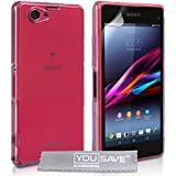 Yousave Accessories Sony Xperia Z1 Compact Hülle Kristall Klare Hart Schutzhülle