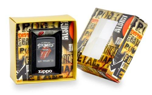 Zippo, Accendino, motivo: Rolling Stones US Tour '78, Argento (Edelstahloptik)