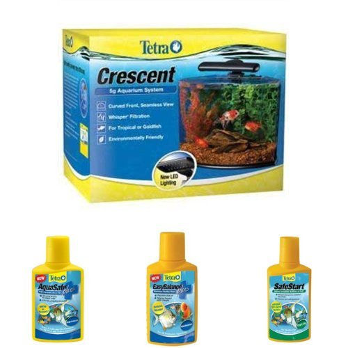 Tetra Crescent 5-Gallon Aquarium Starter Bundle With 3 Water Conditioners