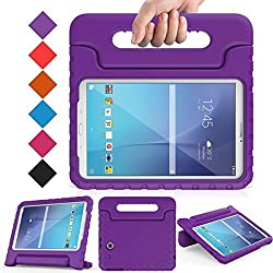 BMOUO Tab E 9.6 Case - EVA Kids ShockProof Convertible Handle Light Weight Protective Cover for Samsung Galaxy Tab E / Tab E Nook 9.6 Inch 2015 Tablet (Fit Both WiFi and Verizon 4G LTE Version) Purple