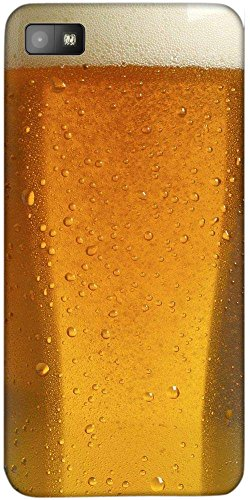 Snoogg Beer Glass Up Case Cover For Blackberry Z10  available at amazon for Rs.149