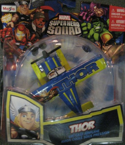 Marvel Super Hero Squad THOR Sky Squadies Die-Cast Airplane - 1