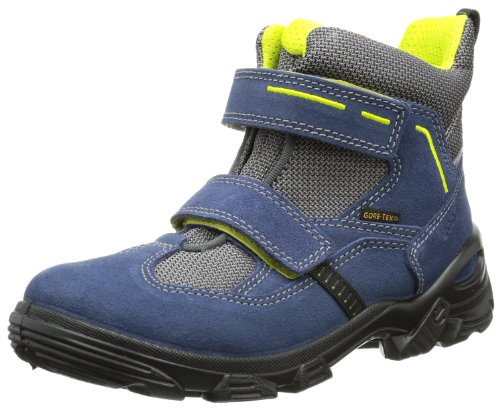Ecco Boys' Snowboarder Denim Blue/Titan-Black Su/Te Boots Blue (DENIM BLUE/TITANIUM-BLACK) 31