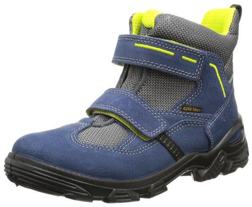 Ecco Boys' Snowboarder Denim Blue/Titan-Black Su/Te Boots Blue (DENIM BLUE/TITANIUM-BLACK) 31