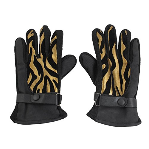 Fleece-Futter-goldenen-Ton-Schwarz-Ski-Snowboard-Winter-Schnee-Handschuhe