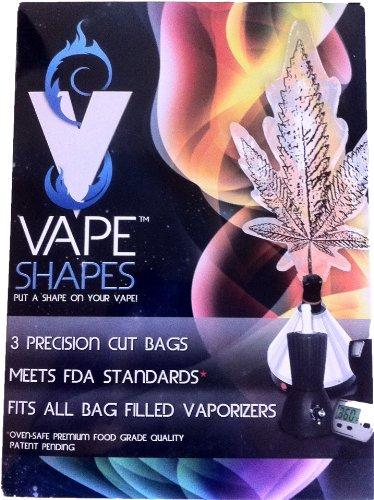 Tokeez Vape Shapes - Marijuana Leaf Shaped Vaporizer Bags (Marijuana Vaporizer Inhaler compare prices)