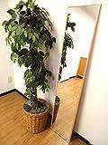 【W320 NA 日本製 壁掛けミラー 】【 幅32cm 高さ 153cm 】♪ 1cmの スリム な フレーム が, さりげない オシャレ を演出する 細枠 ウォールミラー 【 ナチュラル 】【 鏡面 飛散防止加工 】 ♪ ナチュラル な 天然木 を使用 した 細枠 の フレーム は,壁面にすっきり上品になじみます。 立て掛け て も 吊り下げ てもOK! 幅32cm タイプ!&高さ が 153cm 有るので全身をチェックすることができます!♪