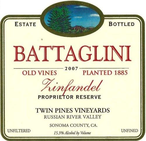 2007 Battaglini Zinfandel Proprietor'S Reserve 750 Ml