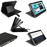 IGadgitz Black 'ArmourDillo' PU Leather Case Cover for Samsung Galaxy Tab 2 P5100 P5110 10.1 Android 4.0 3G Internet Tablet