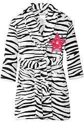 Komar Kids Big Girls'  Zebra Fleece Robe