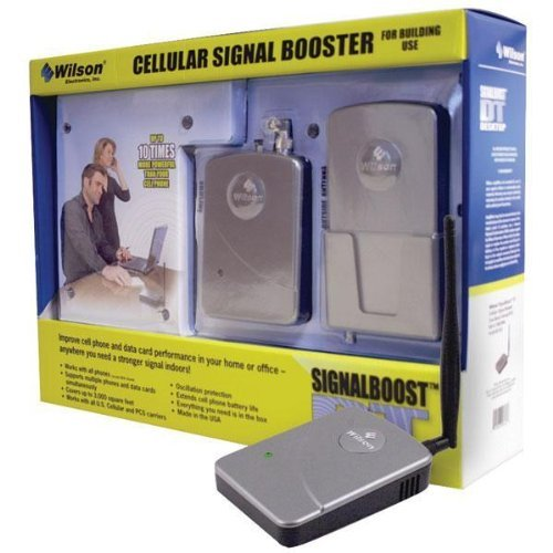 Wilson Electronics Desktop Adjustable Gain Cell Phone Signal Booster for Home or Office  - For Multiple Users