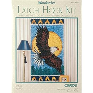 Caron Wonderart 16x32 Latch Hook Kit: Eagle