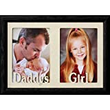 7x10 DADDYS GIRL ~ 5x7 Two Opening BLACK Oak Frame ~ Great Christmas Birthday or Fathers Day Gift for Dad!