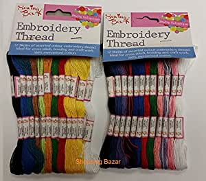 Amazon Sewing Box Embroidery Thread  24 Skeins