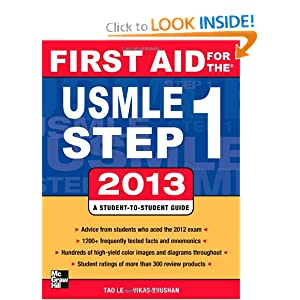 aid for the usmle step 1 2013 first aid usmle