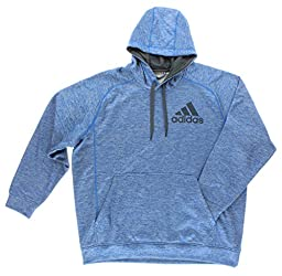 adidas Men\'s Team Issue Pullover Hoodie Blue Beauty/Colored Heather/Phantom MD