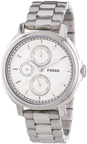 Fossil ES3355 - Reloj de pulsera mujer, acero inoxidable, color plateado