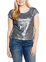 Fiorella Rubino Camiseta Manga Corta (Cielo / Plata)
