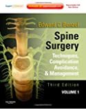 Spine Surgery, 2-Volume Set: Techniques, Complication Avoidance and Management (Expert Consult - Online and Print), 3e
