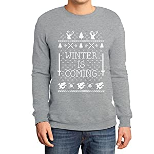 Der Winter kommt Grau XX-Large Sweatshirt