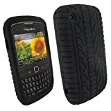 IGadgitz Black Silicone Skin Case Cover with Tyre Tread Design for BlackBerry...