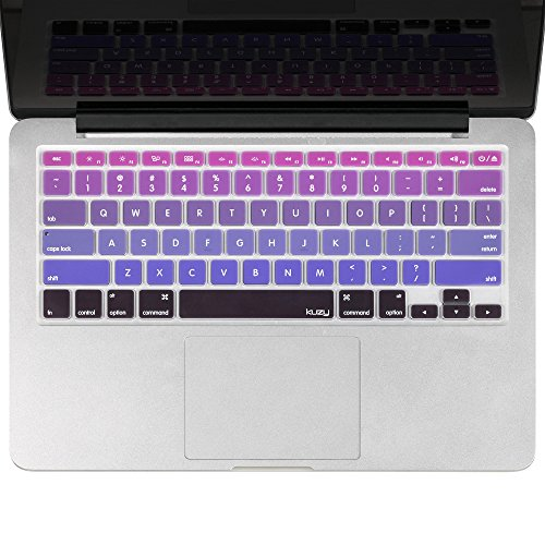 """Kuzy - Purple Ombre Colors Keyboard Cover Silicone Skin for MacBook Pro 13"""" 15"""" 17"""" (with or w/out Retina Display) iMac and MacBook Air 13"""" - mix Pu"""