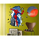 LDM® Removable Eco-friendly PVC Home Room Decoration DIY Spider- Man Wall Sticker