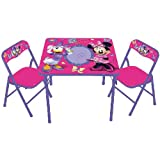 Disney Minnie Mouse Kids Girls Toddler Dry Eraser Erasable Activity Table & Chair Set