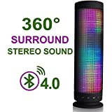 InaRock 10W Wireless LED Bluetooth 4.0 Speakers with TF Card Portable Speaker with Dazzle LED Light Powerful Sound