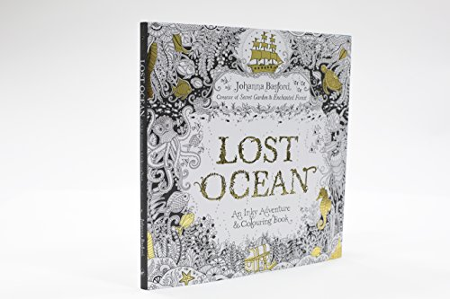 Libro Lost Ocean An Inky Adventure Amp Colouring Book Di