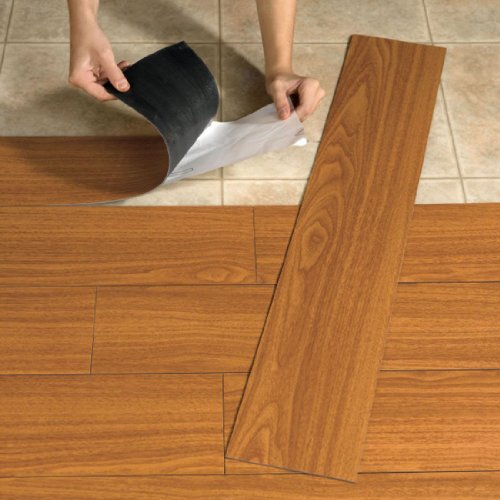Vinyl Flooring: BrylaneHome Peel-And-Stick Wood-Look Plank