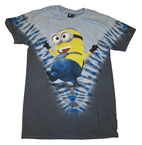 Despicable Me 2 Minion Blue Tie Dye Graphic T-Shirt