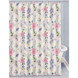 floral garden toss fabric shower curtain 70