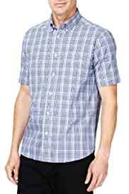 Pure Cotton Easycare Over Checked Shirt [T25-8212M-S]