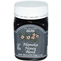New Zealand Manuka Honey Blend Certified Raw , 1.1 Pound Jar