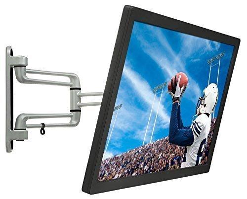 Mount-It! MI-425 || Universal Monitor Wall Mount Single Tilt Rotate Swivel Low Profile VESA Bracket 100x100 200x100 200x200 for Samsung, Sharp, Element, Sony, Vizio, Insignia, Screen Sizes 20