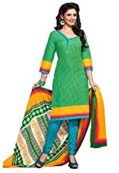 HIFI Ethnicwear Women's Dress Material(HIFI 3317_Green_Free Size)