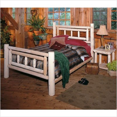 Deluxe Log Bedroom Set Bed Size: King