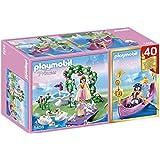 Playmobil Princess - Compact Set de isla de la princesa y góndola romántica (5456)