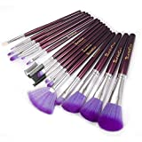iLoveCos Makeup Brushes Make up Brushes 16 Pieces Versatile Cosmetics Brush Kits with Purple Travel Pouch, Foundation Blusher