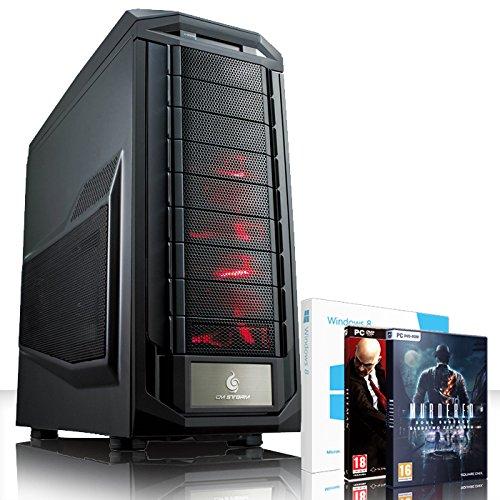 VIBOX Infinity -Turbo 10 - Extreme Gamer, Gaming PC, Desktop PC, USB3 Computer mit 2x Spiele, einschließlich Windows 8.1 (Neu 4.4GHz Overclocked Intel, I5 4670K Schnell Quad-Core, Haswell, Prozessor, 2 GB Overclocked AMD Radeon R9270X Grafikkarte, 120GB SSD Solid-State-Laufwerk, Große 2TB Festplatte, Corsair CX750M PSU, Corsair H75 Wasser CPU Kühler, Z87 SKT1150 Motherboard, Blu -Ray ROM, 32 GB Corsair Vengeance 1600MHz RAM)