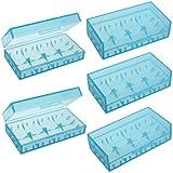 Lot 5 Pcs Plastic Battery Holder Case Storage Box For CR123A 18650 16340