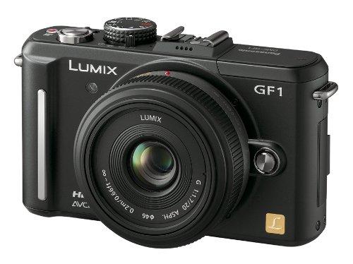 Panasonic ミラーレス一眼カメラ GF1 レンズキット(20mm/F1.7パンケーキレンズ付属) エスプリブラック DMC-GF1C-K