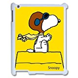 Personalized Design Cartoons Peanuts Snoopy Protective Hard Plastic Ipad 2/3/4 Case Cover Top Show Awesome Holiday Store