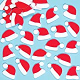 Santa Hat Felt Stickers for Children to Decorate Winter Crafts Cards and CollagePack of 100