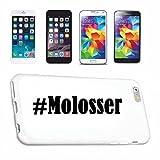 Handyhülle Samsung S7 Galaxy Hashtag ... #Molosser ... im Social Network Design Hardcase Schutzhülle Handycover Smart Cover für Samsung Galaxy Smartphone ... in Weiß ... Schlank und schön, das ist unser HardCase. Das Case wird mit einem Klick auf deinem Smartphone befestigt