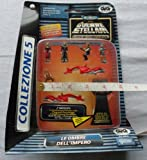 Star Wars - Shadow of the Empire - Micro Machines Swoop Set - Includes 2x swoops, Dash Rendar, Emperor Xizor, Guri, LE-B02D9 and Jix - Made by Gigi in 1996 - Packet is NOT in English and is in Very Poor condition