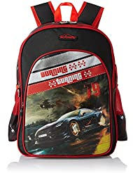 Simba 16 Inches Black And Red Children's Backpack (BTS-2037)