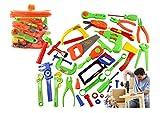 【SCGEHA】プラスチック製 ツールボックス 工具箱 大工さん ごっこ遊び なりきり 知育玩具 工具 カーペンター おもちゃ 大工道具 収納できる 32点セット